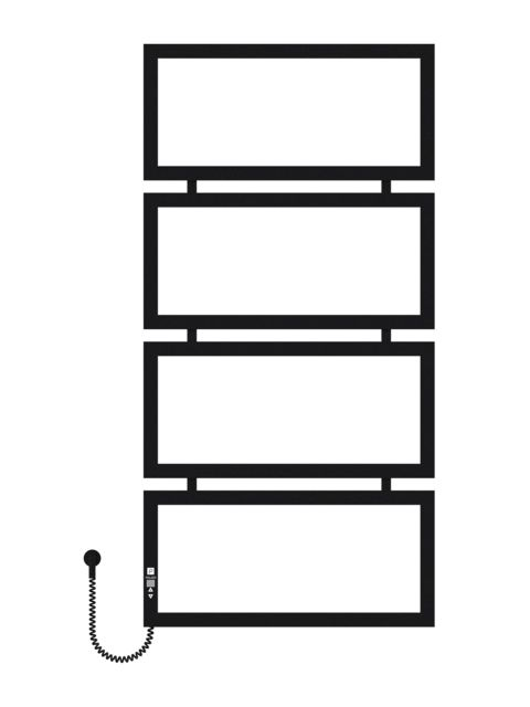 Quattro 1200х600х4 чорний (структура,мат)-RAL-9005 програматор L
